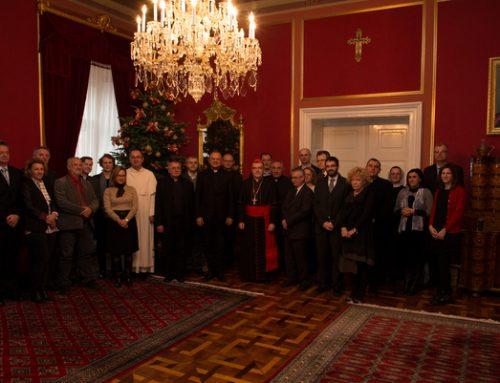Rektor sjemeništa na predbožićnom susretu kardinala Bozanića s predstavnicima različitih Ustanova nadbiskupije