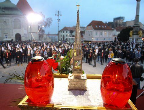 Sjemeništarci i odgojitelji sudjelovali na euharistijskom slavlju proslave Stepinčeva ispred zagrebačke katedrale