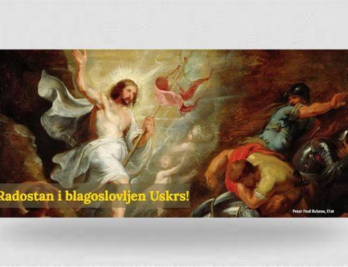 Uskrsna čestitka preč. Matije Pavlakovića, rektora MSZ-a